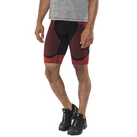 X-Bionic Effektor Power Running Pants Short Men Black/Red